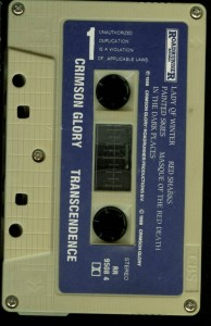 Crimson Glory Transcendence Greek cass tape side 1
