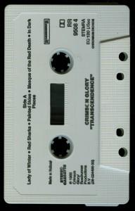 Crimson Glory Transcendence Holland cass tape side 1