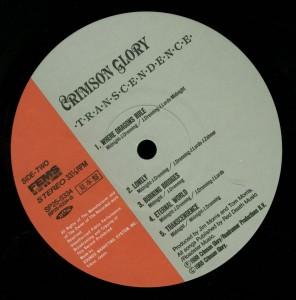 Crimson Glory Transcendence Japan Promo LP label side 2