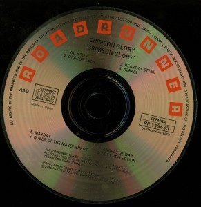 Crimson Glory Crimson Glory Holland first press disc made in Japan disc