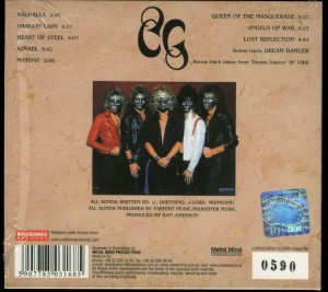 Crimson Glory Crimson Glory Metal Mind digipack back