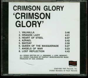 Crimson Glory Crimson Glory Russia Cd Monsters Of Rock back