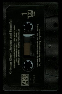 Crimson Glory Strange And Beautiful  Canada Cassette tape side 1