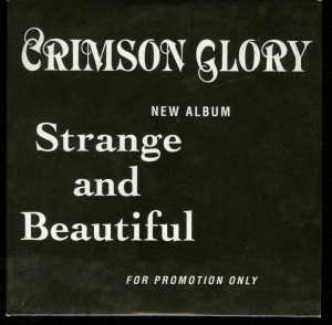 Crimson Glory Strange And Beautiful German promo Cd