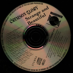 Crimson Glory Strange And Beautiful German promo Cd disc