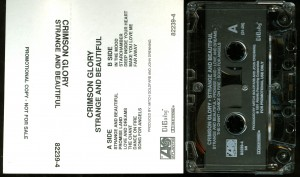 Crimson Glory Strange And Beautiful USA promo cassette black and white cover