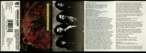 Crimson Glory Strange And Beautiful USA promo cassette inlay