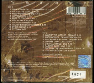 Crimson Glory Astronomica Poland Cd back