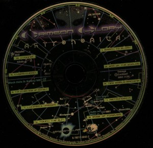 Crimson Glory Astronomica Spitfire Cd disc