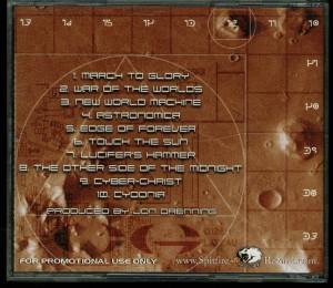 Crimson Glory Astronomica promo CD back
