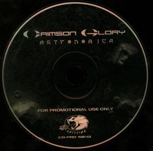 Crimson Glory Astronomica promo CD disc