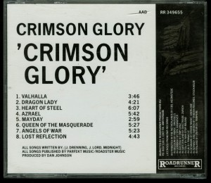 Crimson Glory Crimson Glory Roadrunner Records _– RR 349655  IFPI 0779 back (2)