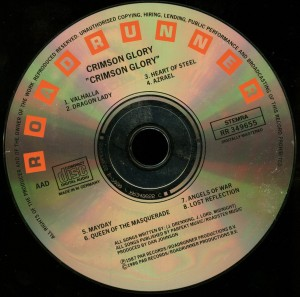 Crimson Glory Crimson Glory Roadrunner Records _– RR 349655  IFPI 0779 disc