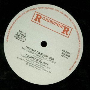 Crimson Glory Dream Dancer 12 inch label side 1