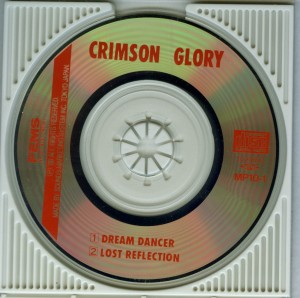 Crimson Glory Dream Dancer Japan minidisc disc (2)