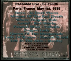 Crimson Glory Invade France back