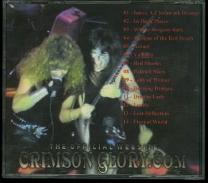 Crimson Glory Live Osaka Japan Cd back