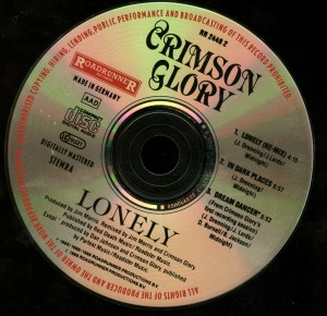 Crimson Glory Lonely Cd Single disc