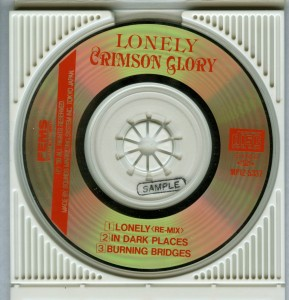 Crimson Glory Lonely Japan minidisc disc