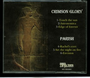 Crimson Glory  Parish The Official Demo Series Vol. 8 Cd back