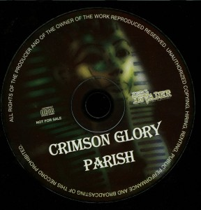 Crimson Glory  Parish The Official Demo Series Vol. 8 Cd disc