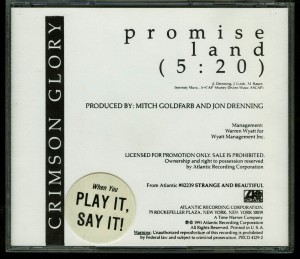 Crimson Glory Promise Land Promo Cd single