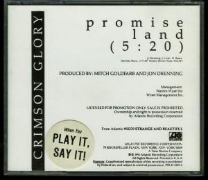 Crimson Glory Promise Land Promo Cd single