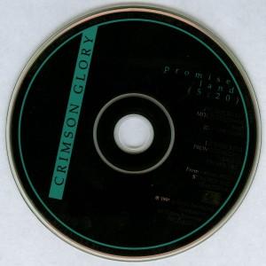 Crimson Glory Promise Land Promo Cd single disc