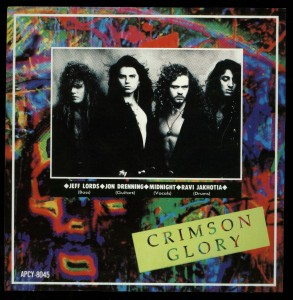 Crimson Glory Strange And Beautiful Japan CD sticker