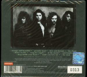 Crimson Glory Strange And Beautiful Poland CD back