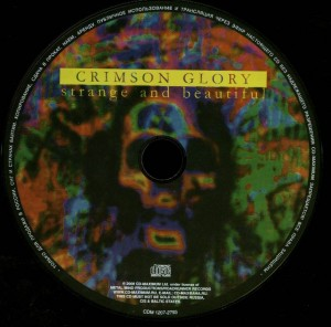 Crimson Glory Strange And Beautiful Russia CD disc