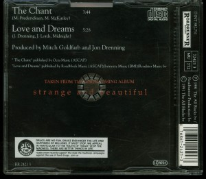 Crimson Glory The Chant Cd single back
