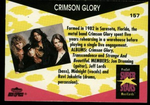 Crimson Glory Trading card back