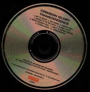 Crimson Glory Transcendence Cd Matrix 168619508-2V0L OQW disc