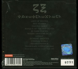Crimson Glory Transcendence Poland Cd back
