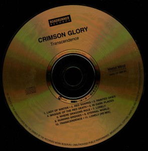 Crimson Glory Transcendence Poland Cd disc