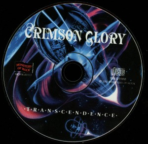 Crimson Glory Transcendence Russia Cd disc