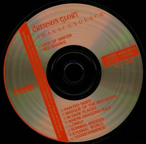 Crimson Glory _Transcendence Japan Cd Far East Metal Syndicate MP28-5334 disc