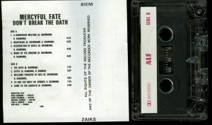 Mercyful Fate Dont Break The Oath Alf Cassette back