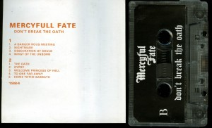 Mercyful Fate Dont Break The Oath Baron Cassette back