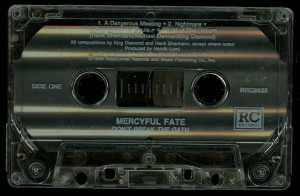 Mercyful Fate Dont Break The Oath Cassette Roadracer Records Columbia House side 1