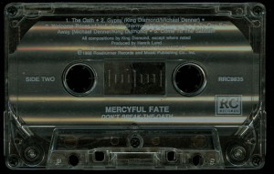Mercyful Fate Dont Break The Oath Cassette Roadracer Records Columbia House side 2