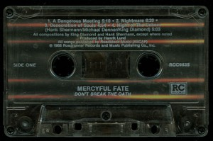 Mercyful Fate Dont Break The Oath Cassette Roadrunner Records tape side 1