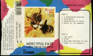 Mercyful Fate Dont Break The Oath Cassette Spider clear tape inaly