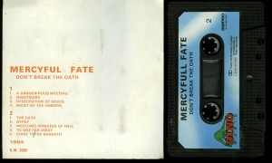 Mercyful Fate Dont Break The Oath Dino Cassette back