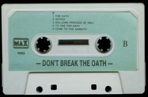 Mercyful Fate Dont Break The Oath Max Cassette side 2