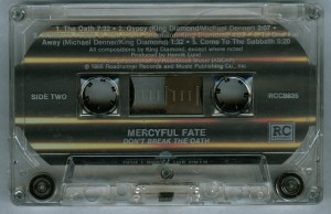 Mercyful Fate Dont Break The Oath RC Records cass side 2