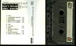 Mercyful Fate Dont Break The Oath Takt Cassette back
