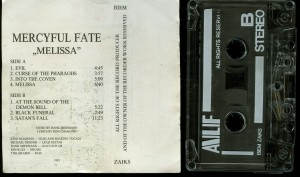 Mercyful Fate Melissa Alf Cassette back