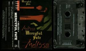 Mercyful Fate Melissa Attic Records Clear Tape